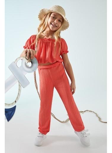 DeFacto Kız Çocuk Paperbag Fit Pantolon Kırmızı